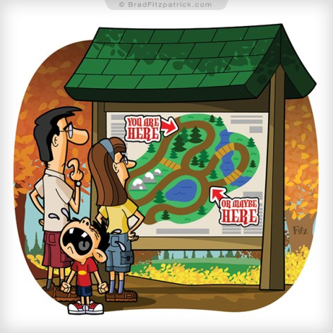 Map-Fall-Crying-Kid-Parents-Mom-Dad-Magaziine-Illustration