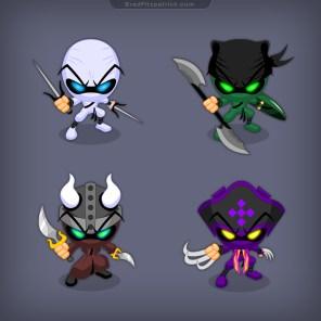 Ninja-Pirate-iPad-Game-Character-Designs-01