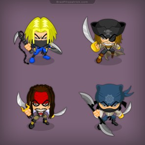 Pirate-Ninja-Character-Designs-for-Mobile-iPhone-Games-02