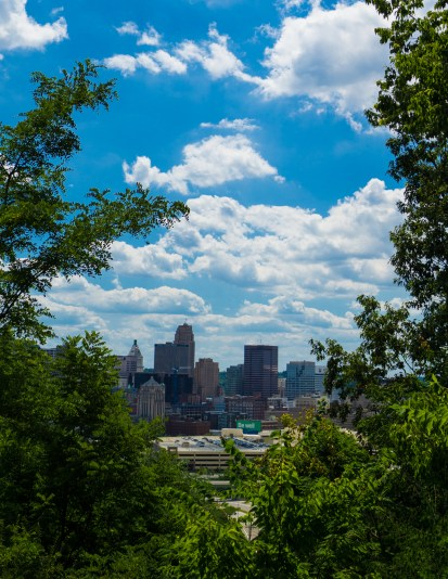 August 1st: City Through Trees