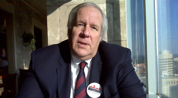 Steve Morrison during his campaign for mayor, 2010.