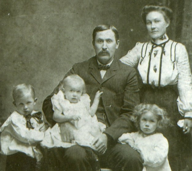 My great-great grandparents, C.L. and Mattie Pace, with their three eldest children, before my grandmother was born.