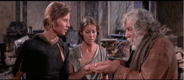 "Peter Ustinov (on the right) in ""Logan's Run."""