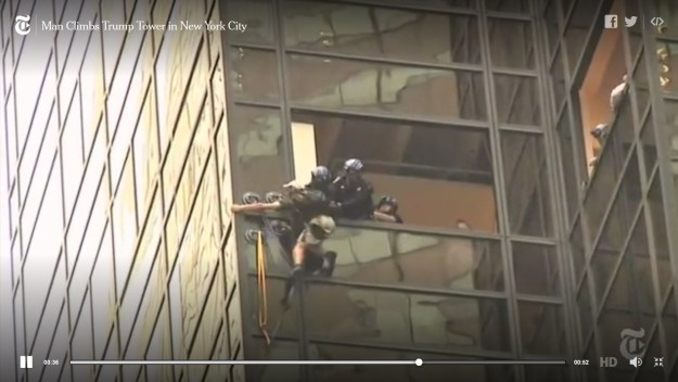 It appalls me to see cops risking their lives to rescue this guy, who put them in danger for no good reason.