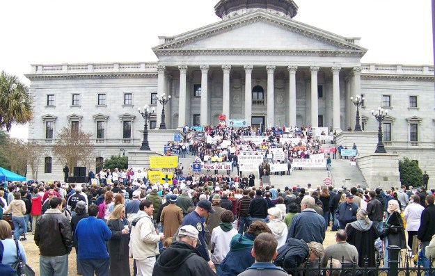 Pro-life demonstration at SC State House -- from SC Citizens for Life site.