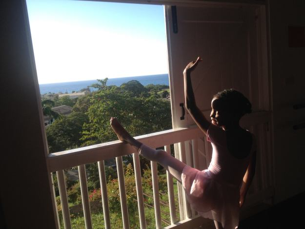 "Happy Mardi Gras! The holiday is huge in Dominica in the Caribbean, where my youngest daughter teaches ballet under the auspices of the Peace Corps. This is from her Facebook page, ""Ballet in Dominica."""