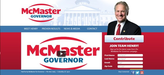 McMaster for governor
