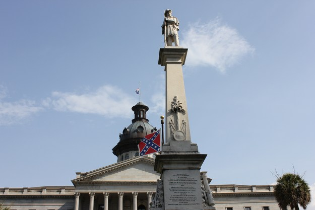 The soldier monument, back before the flag came down.