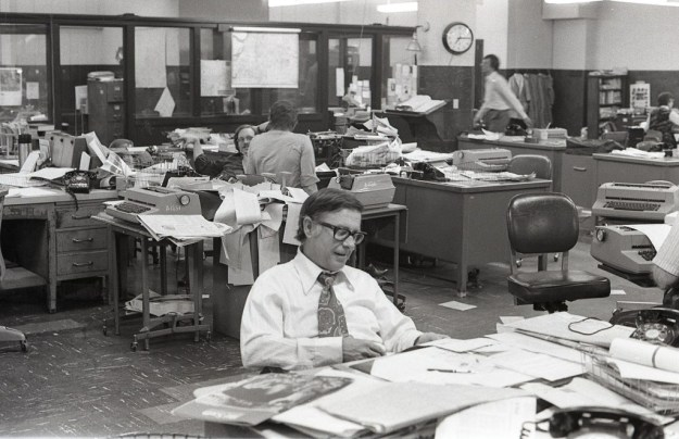 In 1974, the paper's newsroom was still like a place where Ben Hecht would feel at home.