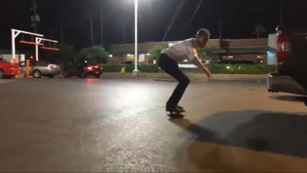 The skateboarding man-child.
