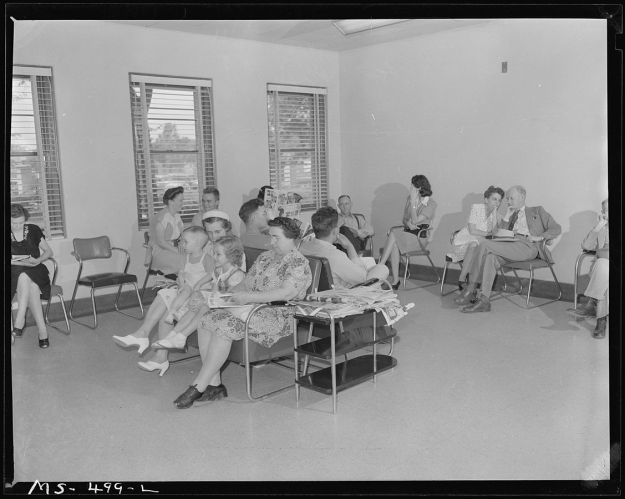 This is the best picture I could find of a waiting room that was in the public domain.