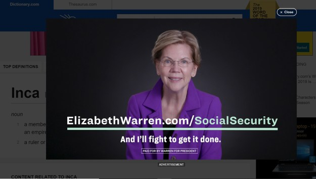 Warren ad