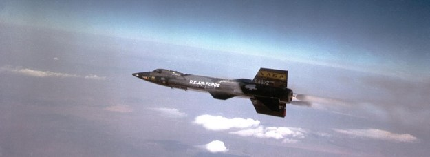 The North American X-15 rocket plane, made to fly to the edge of space.