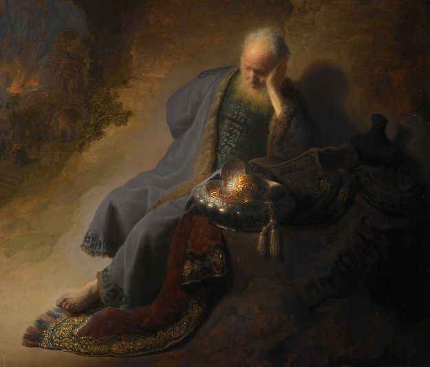 Jeremiah, as Rembrandt saw him...