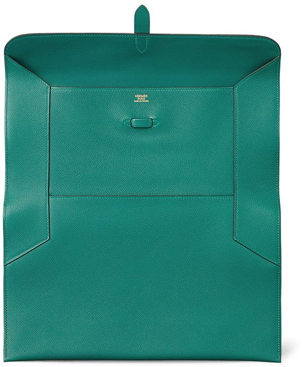 size 40 48a99 e4562 Made from ever-color calfskin, measuring 21 x 33 x 1 (H x W x D) cm, priced  around  5,000 USD or  3900 euro s. Available at Hermes boutique.