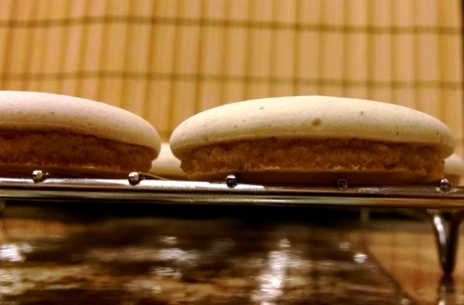[image: self-frosting spice cookies cooling on a rack]