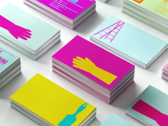 Waldo Trommler Paints business card design 25