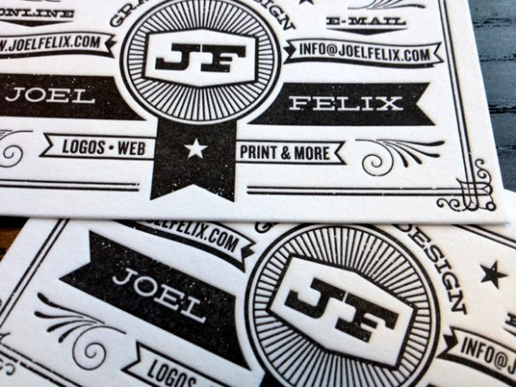 letterpress  Business card design 04