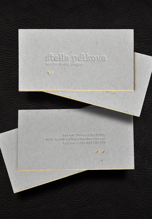 letterpress  Business card design 14