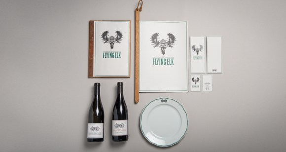 Flying Elk Restaurant Identity 01