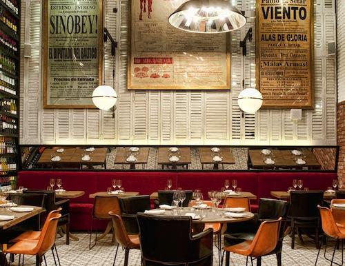 Fresh simple restaurant interiors