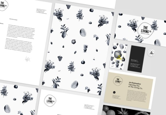 The Living Co identity design 04