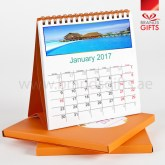 Table Calendars with Nice Calendar Cover Box Spiral Binding Different Colors and Designs www.brandsgifts.ae