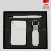 Simplicity Gift Set with Promotional Items Power Bank Keyring and Metal pen www.brandsgifts.ae