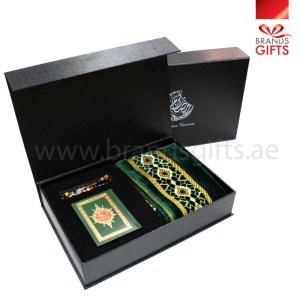 Ramadan and Islamic Gifts with Color Quran Prayer mat and Stone Misbah www.brandsgifts.ae