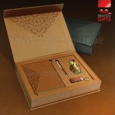High quality Custom Gift Set Promotional Luxury Corporate Personalized Gifts With VIP Gift Items and Custom PU Leather Box. www.brandsgifts.ae