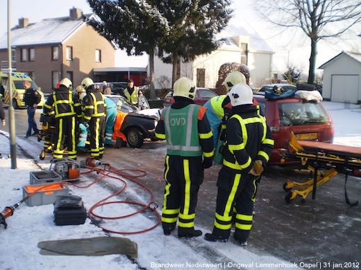 Ernstig Ongeval door Gladheid Lemmenhoek Ospel