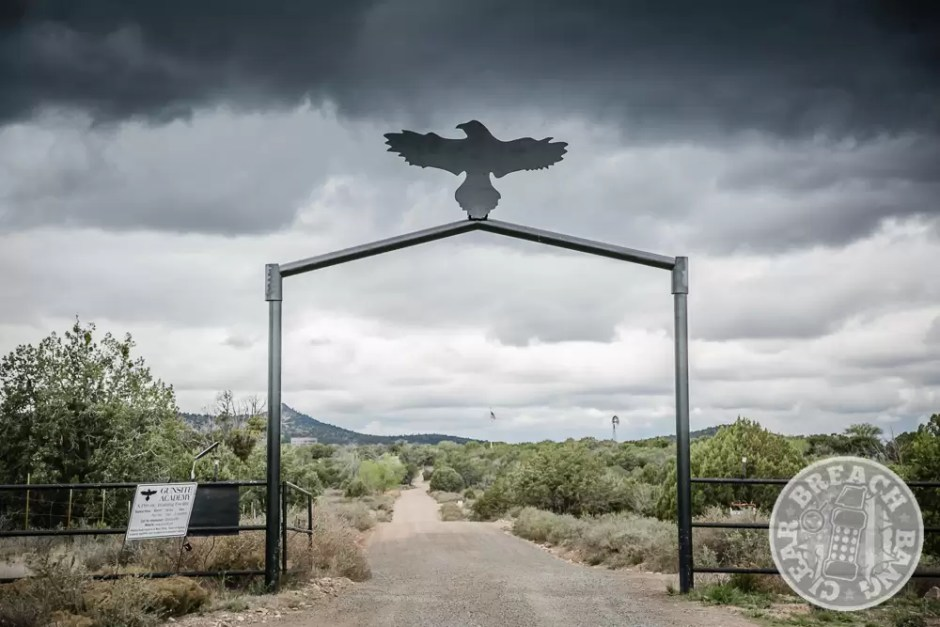 The entrance gate to Gunsite