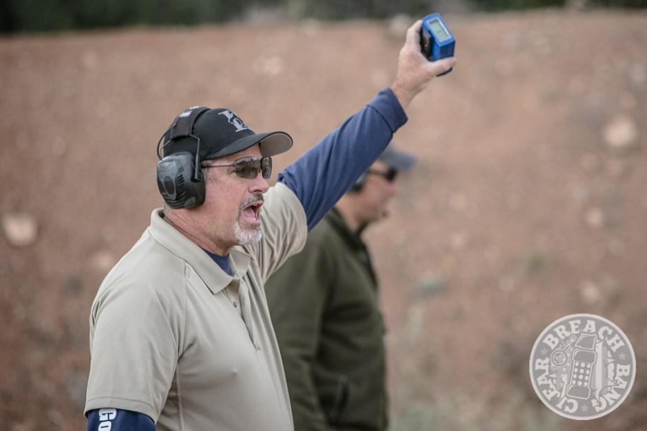 Rob Leatham running the pistol qualification