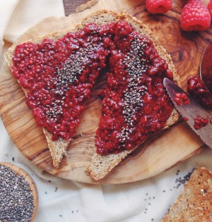 Raspberry Vanilla Chia Seed Jam | Breakfast Criminals