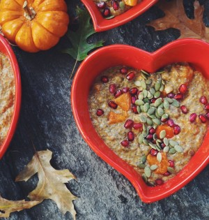 Pumpkin Pie Chia Pudding with Persimmon | Breakfast Criminals