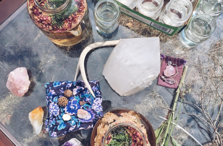 Women's Full Moon Retreat Rituals - crystals, essential oils, moon water