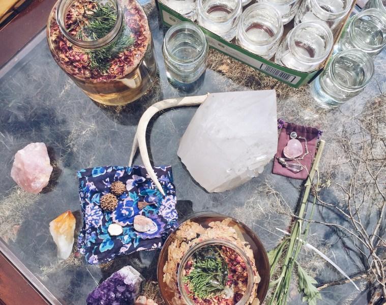 Women's Full Moon Retreat Rituals - crystals, essential oils, moon water