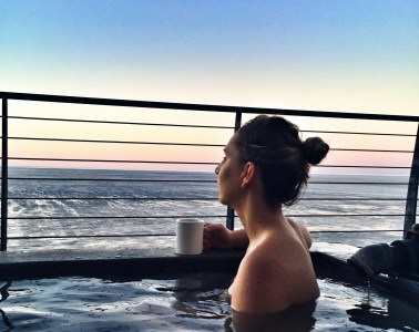 Soaking at Esalen baths in Big Sur