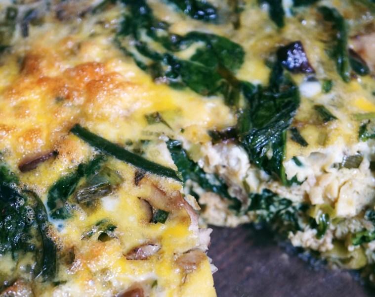 Spring Vegetable and Mushroom Fritatta Recipe