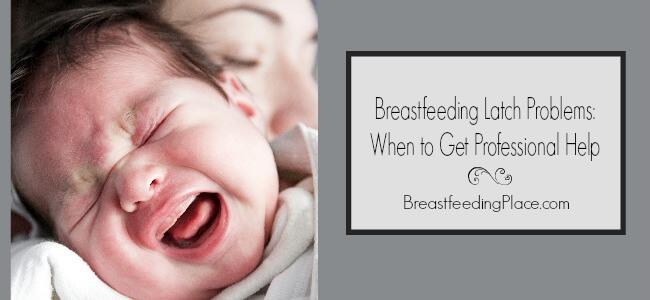Breastfeeding latch problems horizontal