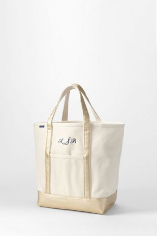 Natural And Gold Open Top Tote $44.50