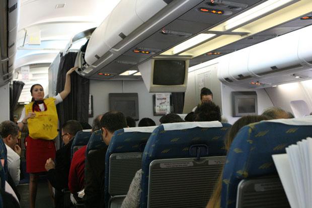 Im A330 auf der Kurzstrecke von Antalya nach Istanbul.