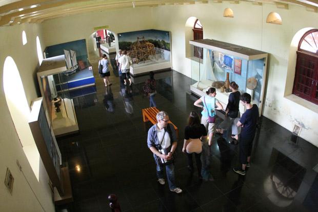 Auch das Museum im Fort Rotterdam war eher langweilig.