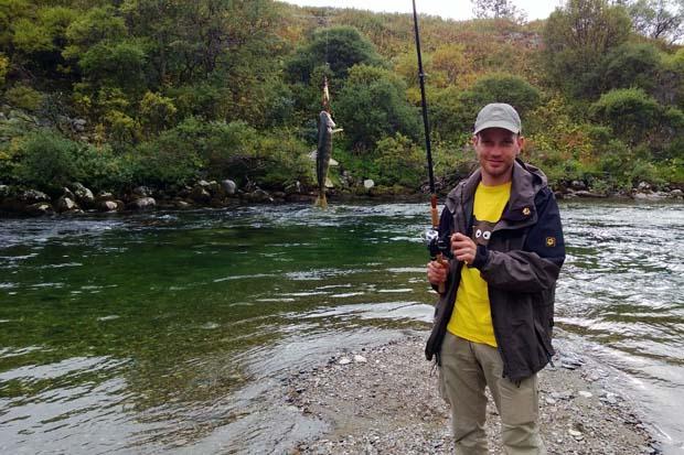 Wir fingen zwar einige Fische, ließen diese aber aufgrund der geringen Größe wieder frei.