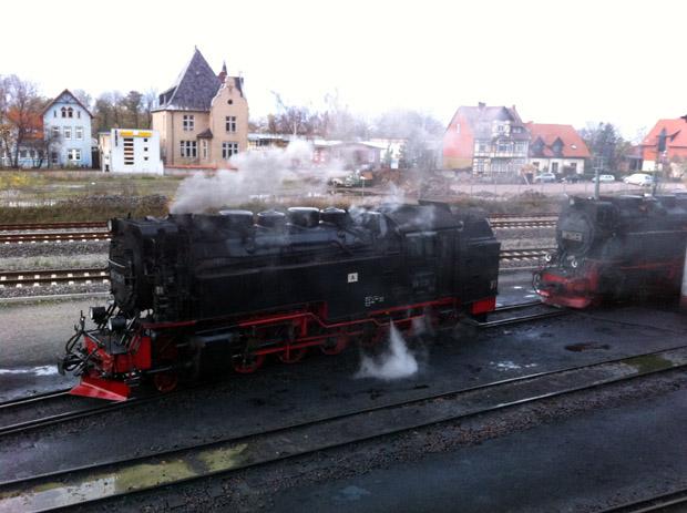 Dampfloks der Harzer Schmalspurbahn.