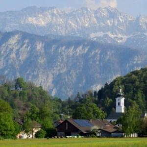 Der Wilde Kaiser bietet in Oberaudorf ein traumhaftes Panorama
