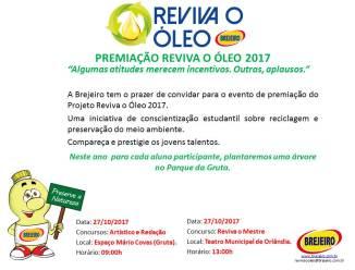 PREMIAÇÃO REVIVA O ÓLEO 2017