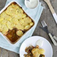 Shoarma-ovenschotel met aardappel