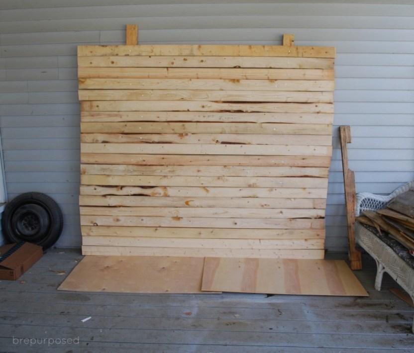 DIY Wood Backdrop