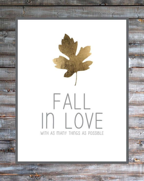 Fall in Love Printable